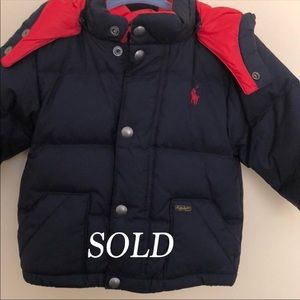 SOLD Ralph Lauren Puffer Coat SOLD Already